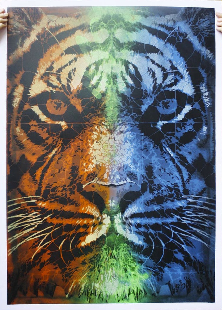 Copy of Orticanoodles: Tiger (X) - prettyportal artshop, limited edition prints, urban contemporary art, streetart
