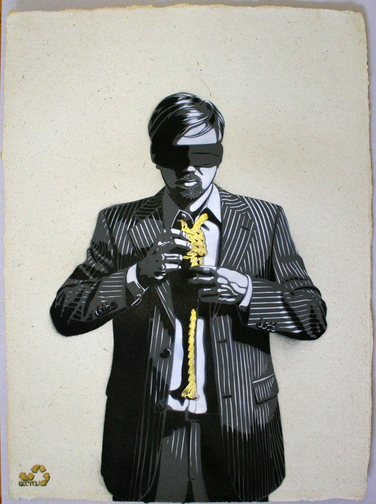 DECYCLE - Down to business (Gold Edition) - prettyportal artshop, limited edition prints, urban contemporary art, streetart