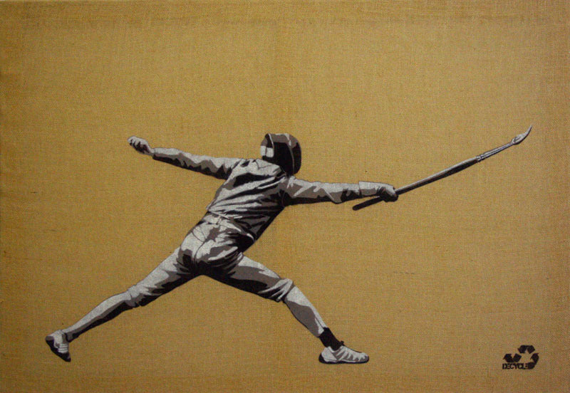 Decycle: Fencing Colors - prettyportal artshop, limited edition prints, urban contemporary art, streetart