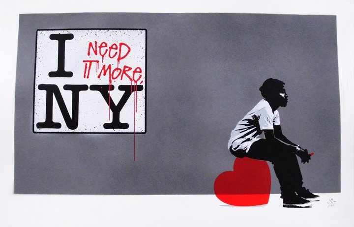 L.E.T. :  I need it more, NY (canvas)
