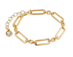 Gold Plated Linked Chain Bracelet
