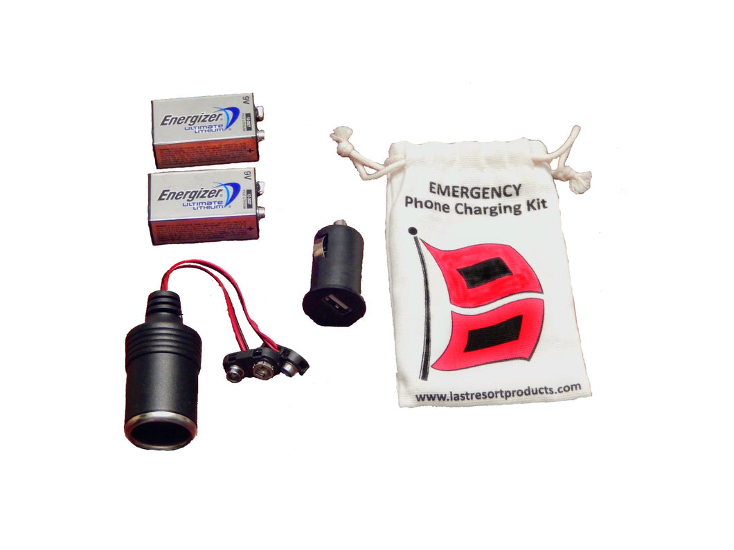 Last Resort Emergency Phone Charger Kit