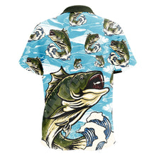 Bass Fishing Shorts Sleeve Button Shirt Polo