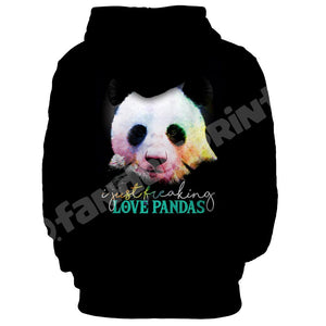 I just freaking love pandas unisex hoodie