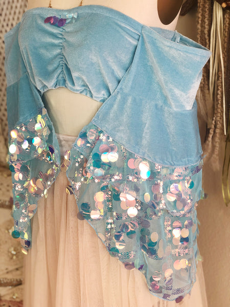 Serenity Bandeau in Mermaid Sequin Bubbles