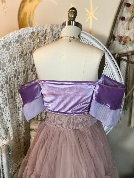 Aurora Bandeau in Ethereal Lavender