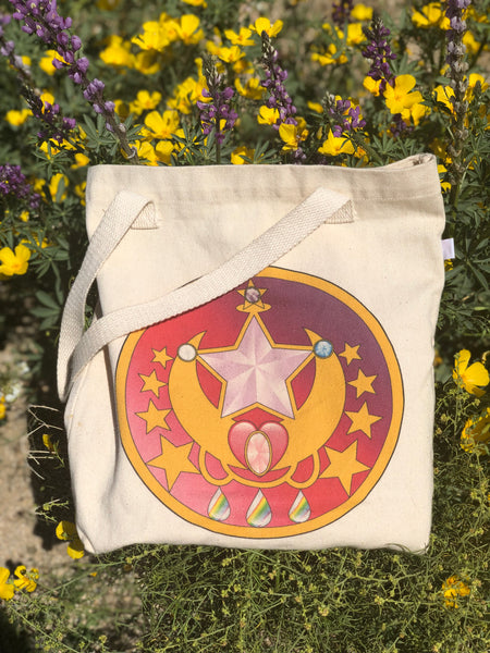 Stardust Bohemian Magical Brooch Canvas Bag