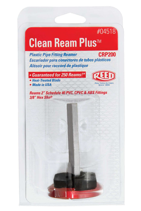 "Reed Mfg 04518 - CRP200 2"" Clean Ream Plus® Plastic Pipe Fitting Reamer - Edmondson Supply"