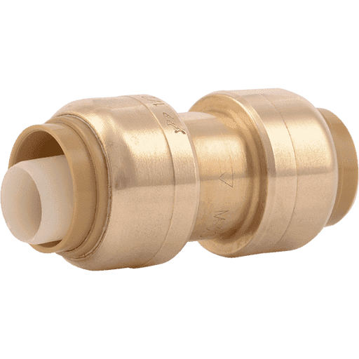 "SharkBite U006LF 3/8"" (1/2""OD) x 3/8"" (1/2"" OD) Brass Push Coupling - Edmondson Supply"
