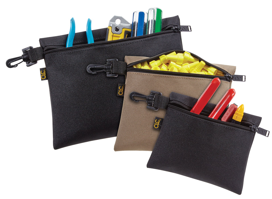 CLC 1100 3 Multi-Purpose, Clip-on, Zippered Bags