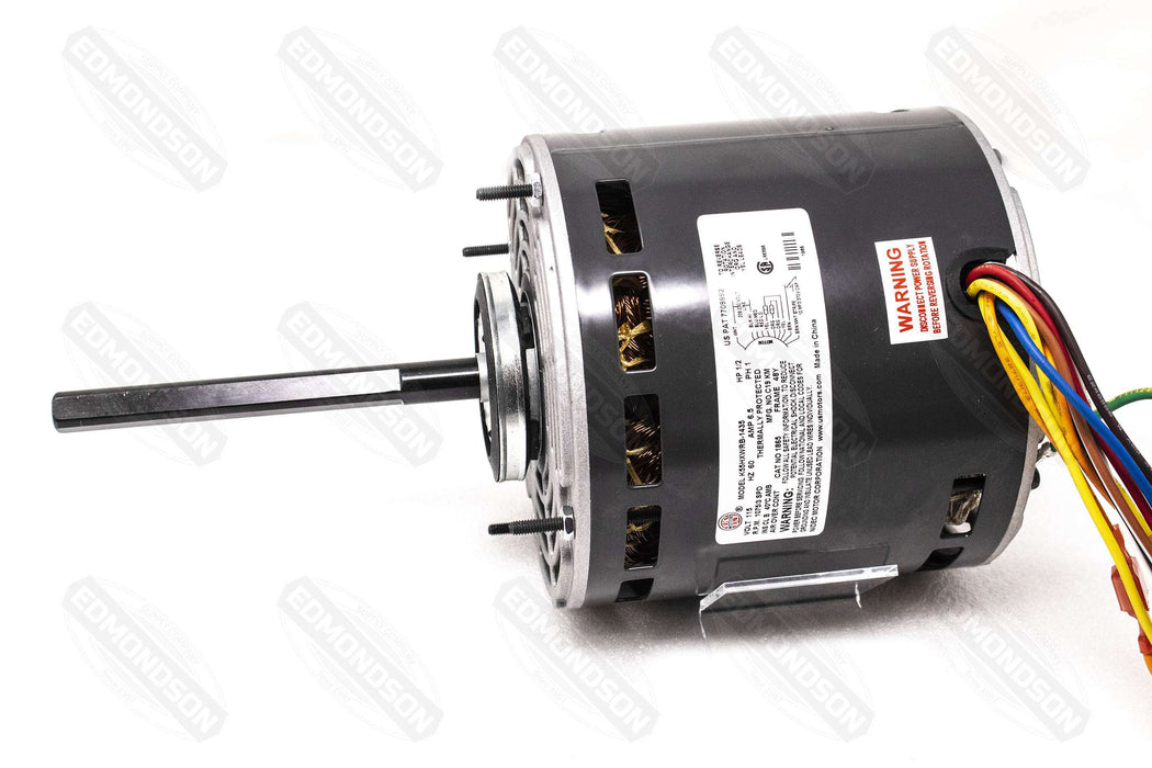 "US Motors 1865 5.6"" Direct Drive Blower Motor, 115V, 1/2 HP, 1075 RPM, PSC"