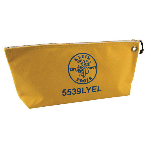 Klein Tools 5539LYEL Canvas Bag with Zipper, Large Yellow - Edmondson Supply