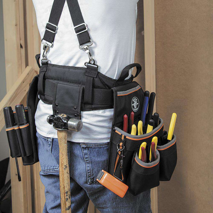 Klein Tools 55427 Tradesman Pro™ Electrician's Tool Belt, Medium - Edmondson Supply