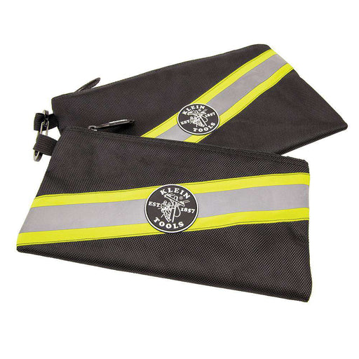 Klein Tools 55599 High Visibility Zipper Bags, 2-Pack - Edmondson Supply