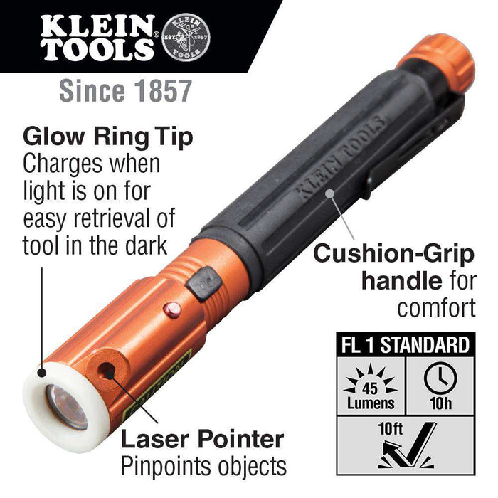 Klein Tools 56026 Inspection Penlight with Laser - Edmondson Supply