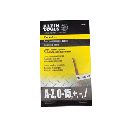 Klein Tools 56253 Wire Marker Book-Black Letters, Numbers and Symbols - Edmondson Supply