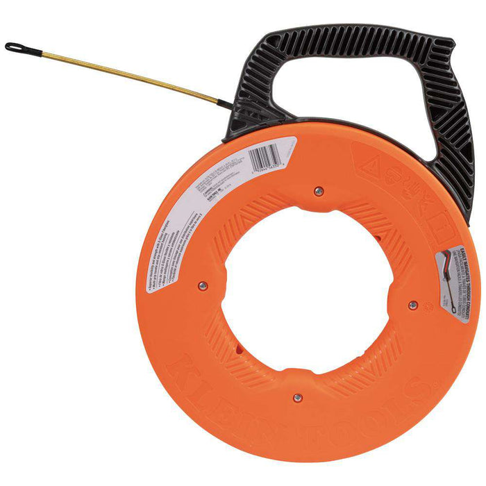 Klein Tools 56351 Fiberglass Fish Tape with Spiral Steel Leader, 100-Foot - Edmondson Supply