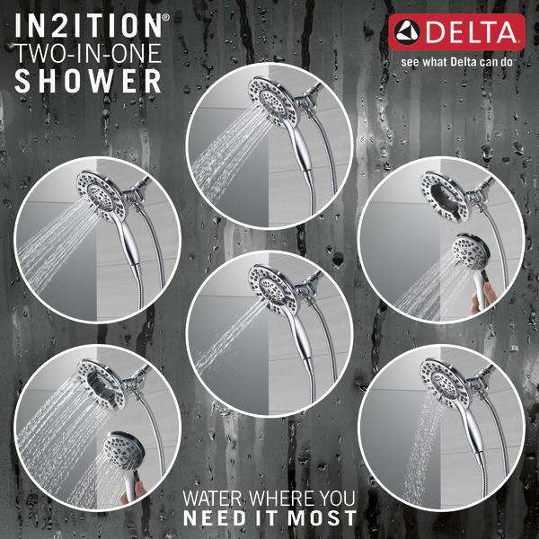 Delta Faucet 58499 In2ition 4-Setting Two-in-One Shower, Chrome - Edmondson Supply