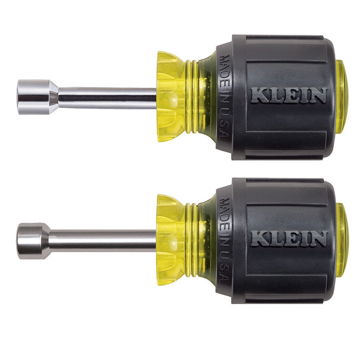 Klein Tools 610 Stubby Nut Driver Set 1-1/2-Inch Shafts 2-Piece
