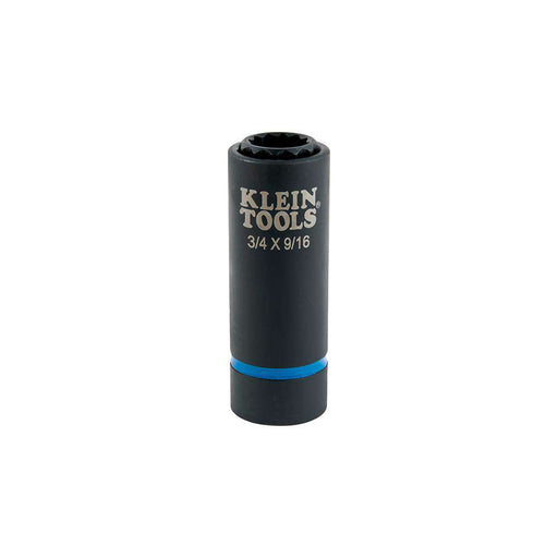 Klein Tools 66001 2-in-1 Impact Socket, 12-Point, 3/4 and 9/16-Inch - Edmondson Supply