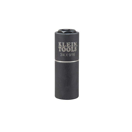 Klein Tools 66004 2-in-1 Impact Socket, 6-Point, 3/4 and 9/16-Inch - Edmondson Supply