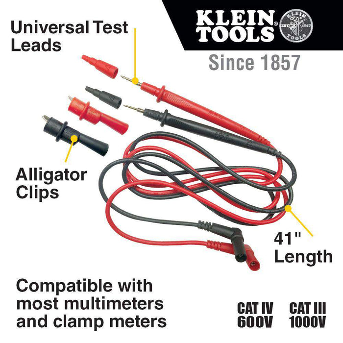Klein Tools 69410 Replacement Test Lead Set, Right Angle - Edmondson Supply
