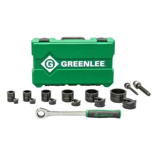 "Greenlee 7238SB Slug-Buster® 1/2"" - 2"" Knockout Kit with Ratchet - Edmondson Supply"