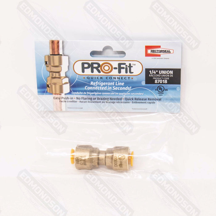 "RectorSeal 87018 PRO-Fit™ 1/4"" Quick Connect Union"