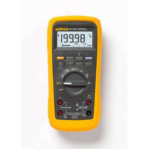 Fluke 87V-MAX True-RMS Industrial Heavy-Duty Digital Multimeter with Temperature Measurement, IP 67 Rated