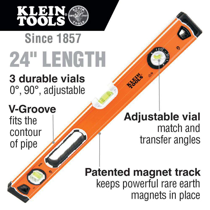 Klein Tools 935L 24-Inch Bubble Level - Edmondson Supply