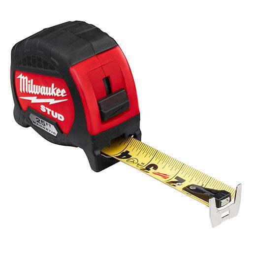 Milwaukee 48-22-9725M 25ft STUD™ Magnetic Tape Measure - Edmondson Supply