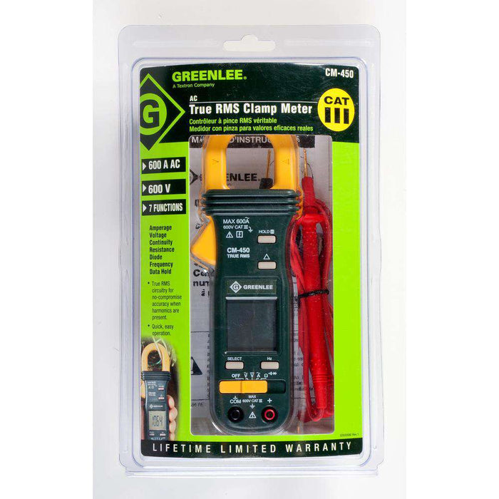 Greenlee CM-450 True RMS AC Clamp Meter - Edmondson Supply