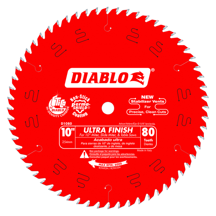 Diablo Tools D1080X 10 in. x 80 Tooth Ultra Finish Saw Blade