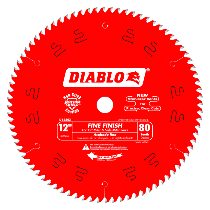 Diablo Tools D1280X 12 in. x 80 Tooth Fine Finish Saw Blade