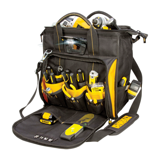 CLC DeWALT DGL573 41-Pocket Lighted Technician's Tool Bag