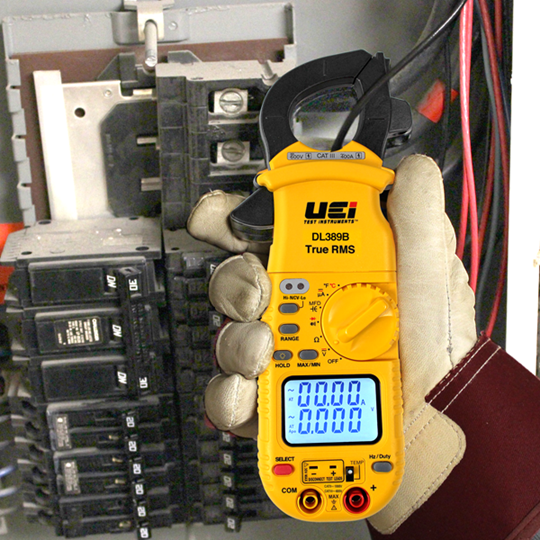UEi DL389B TRMS Dual Display HVAC Clamp Meter with Temperature