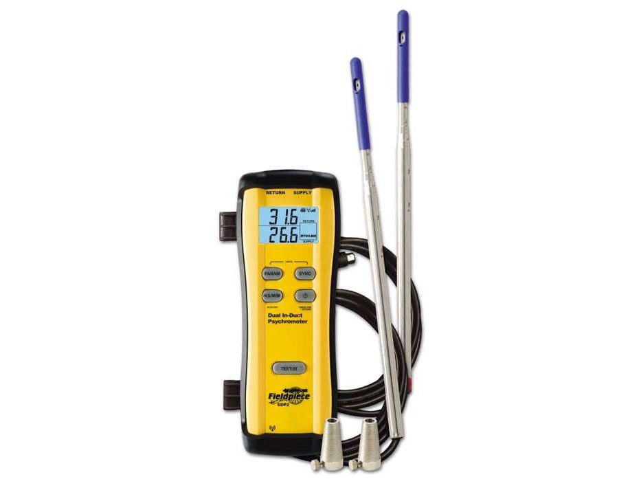 Fieldpiece SDP2 Wireless Dual In-Duct Psychrometer - Edmondson Supply