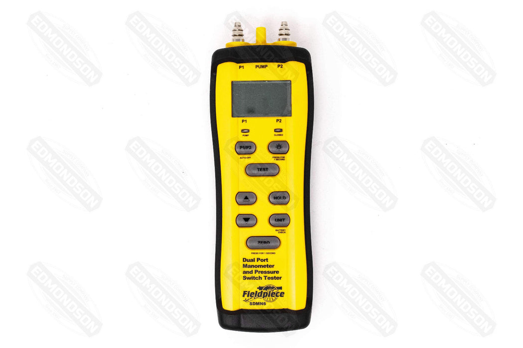 Fieldpiece SDMN6 Dual Port Manometer and Pressure Switch Tester - Edmondson Supply