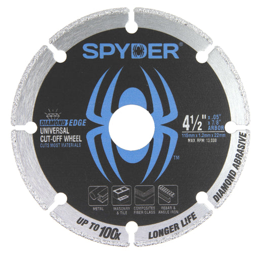 "Spyder 14001 Diamond Cut-Off Wheel 4.5"" - 100X Longer"