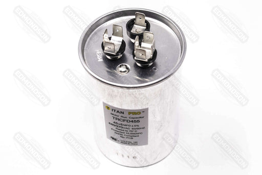 Packard TRCFD455 Titan PRO Run Capacitor 45+5 MFD 440/370 Volt Round - Edmondson Supply