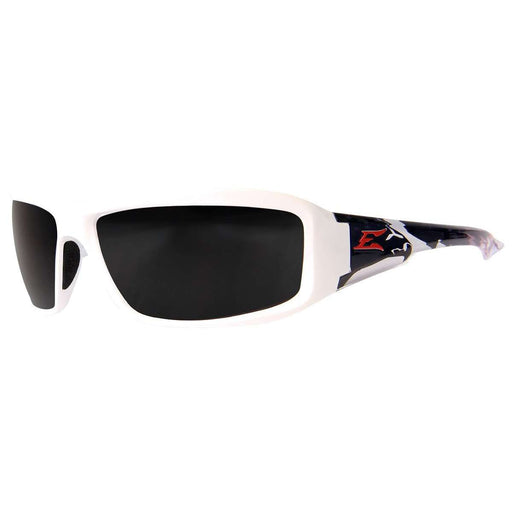 Edge Eyewear TXB246-P2 Brazeau Patriot 2 - White & Black Bald Eagle/Polarized Smoke - Edmondson Supply
