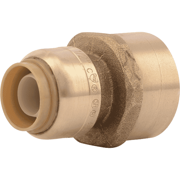 "Sharkbite U068LF 1/2"" x 3/4"" FNPT Reducing Brass Push Female Adapter - Edmondson Supply"