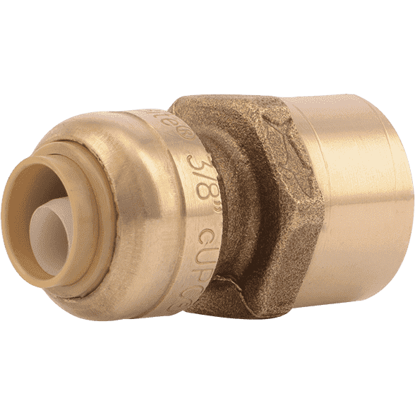 "Sharkbite U070LF 3/8 "" (1/2"" OD) x 1/2"" FNPT Reducing Brass Push Female Adapter - Edmondson Supply"