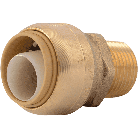 "Sharkbite U138LF  3/4"" x 1/2"" MNPT Bullnose Brass Push Male Adapter - Edmondson Supply"