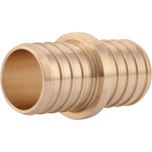 "SharkBite UC020LF 1"" x 1"" Brass PEX Crimp Coupling - Edmondson Supply"