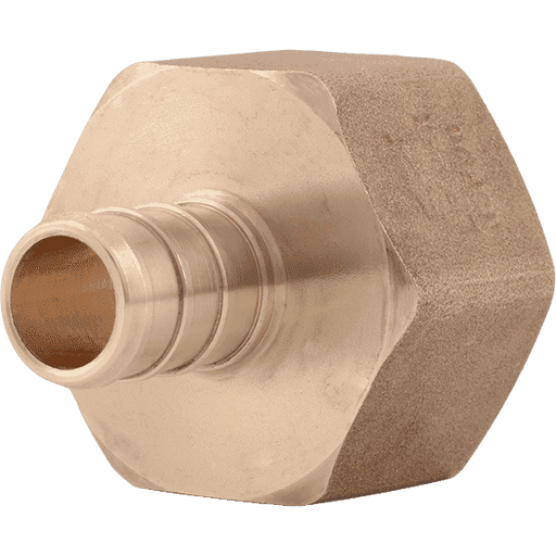 "SharkBite UC068LF 1/2"" x 3/4"" FNPT Brass PEX Crimp Female Connector - Edmondson Supply"