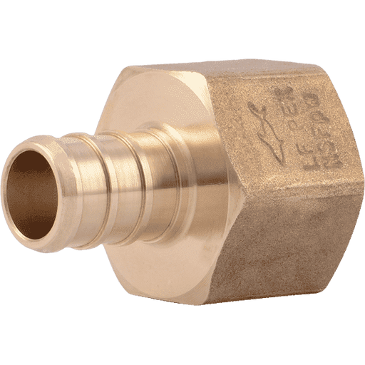 "SharkBite UC072LF 1/2"" x 1/2"" FNPT Brass PEX Crimp Female Connector - Edmondson Supply"