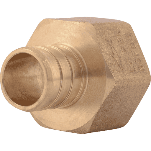 "SharkBite UC088LF 3/4"" x 3/4"" FNPT Brass PEX Crimp Female Connector - Edmondson Supply"
