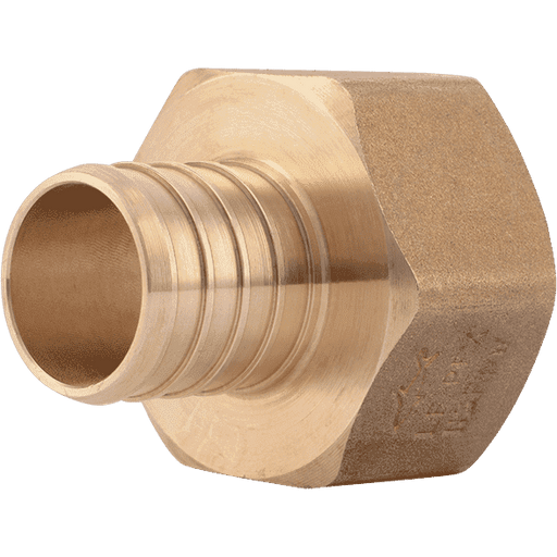 "SharkBite UC094LF 1"" x 1"" FNPT Brass PEX Crimp Female Connector - Edmondson Supply"