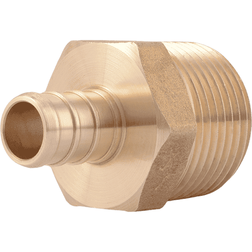 "SharkBite UC116LF 1/2"" x 3/4"" MNPT Brass PEX Crimp Male Connector - Edmondson Supply"
